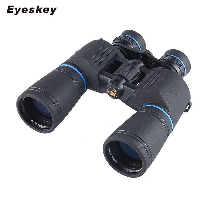Eyeskey Waterproof Powerful Binoculars 10-22x50 Telescope Zoom Professional Day Night Vision Hunting Compact binoculos Useful