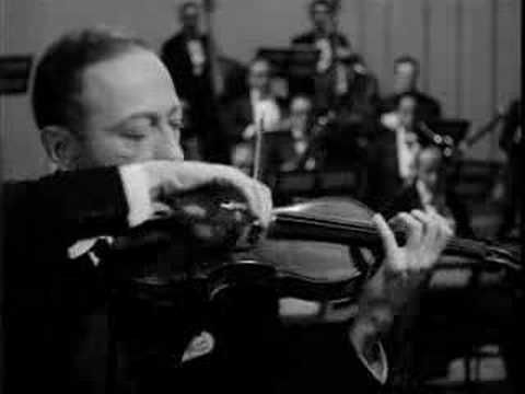 "Jascha Heifetz plays Tchaikovsky Violin Concerto: 1st mov,  with conductor Fritz Reiner !  When the concerto was written the famous violin teacher Leopold Auer called the work ""unplayable."""