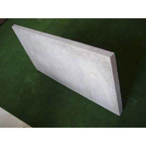 Plaque pour clôture droite en béton pleine, L.96 x H.50 cm x Ep.38 mm