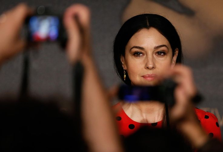 67th Cannes Film Festival: Monica Bellucci presents the film The Wonders of Alice Rohrwacher. (Cannes, 18 May 2014.)