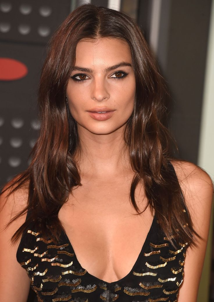 Best 25 center part hairstyles ideas on pinterest middle part emily ratajkowski long center part hairstyles photo urmus Gallery