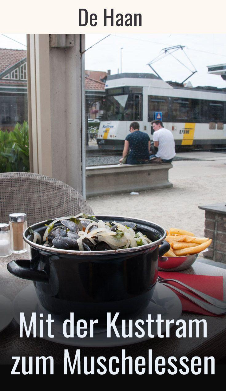 """De Haan: Muschelessen ist hier gleich neben der Kusttram im """"Hotel des Brasseurs"""" möglich. Eine gute Gelegenheit für einen kulinarischen Zwischenstopp mit der Küsten-Straßenbahn. Reisebericht & Tipps für das beliebte Essen aus Flandern (Belgien) im Reiseblog. #visitflanders #zugreise"""