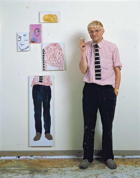 david hockney; thought: portrait of a person spread over more than one canvas.  Multiple shoots, poses, etc.  Not even a portrait of a person - could be any photo.  How different can the images be and still hold  together in the viewer's mind?