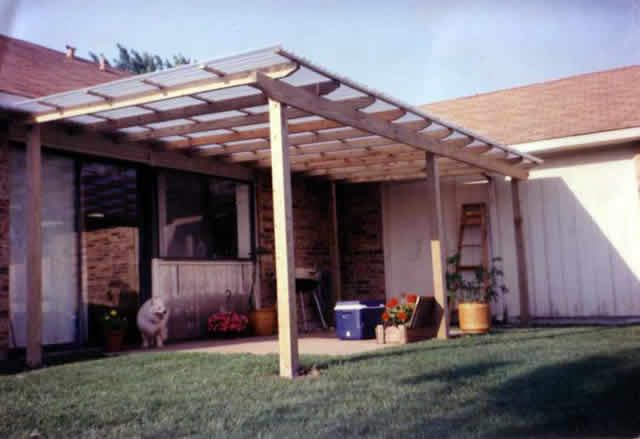 Fairly Simple Inexpensive Deck Roof Outdoor Space