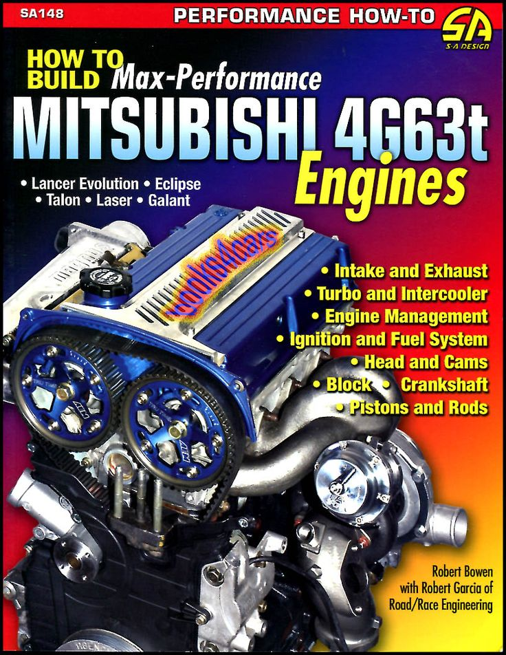 Details about MITSUBISHI 4G63t MANUAL BOOK ENGINE