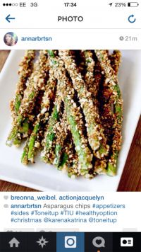 Tone It Up - Recipe Profile - Asparagus Chips/Fries