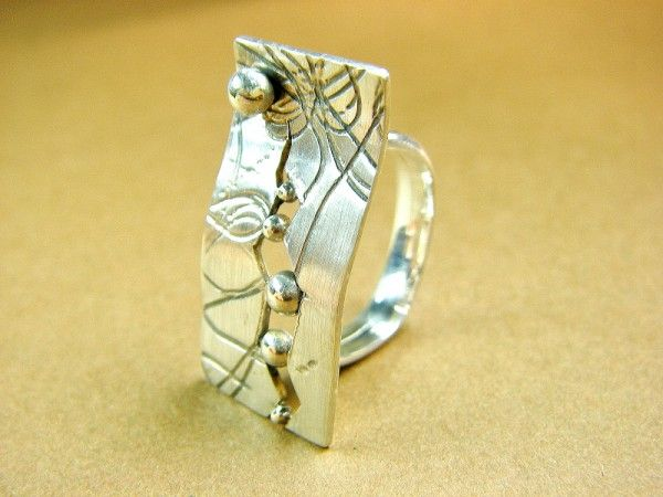 """""""Emerge"""", ring. Sterling silver. Size 6 3/4"""
