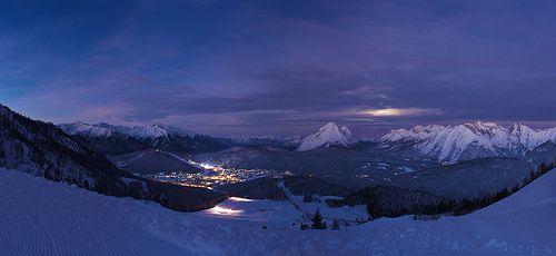 Seefeld winter panorama