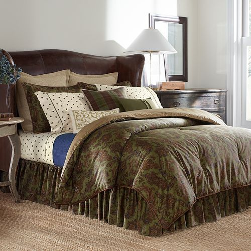 Comforters and Sets 45462: New Ralph Lauren Chaps Beekman Place Queen Comforter Set 4Pc Floral Green -> BUY IT NOW ONLY: $57.49 on eBay!