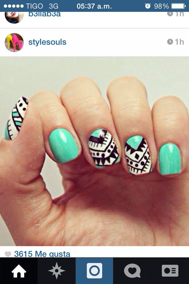 Uñas color aqua | Uñas acrilicas | Pinterest | Colors and Aqua