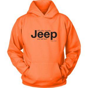 Broken Lizard Tees Jeep Sweatshirt or Hoodie - All who wander
