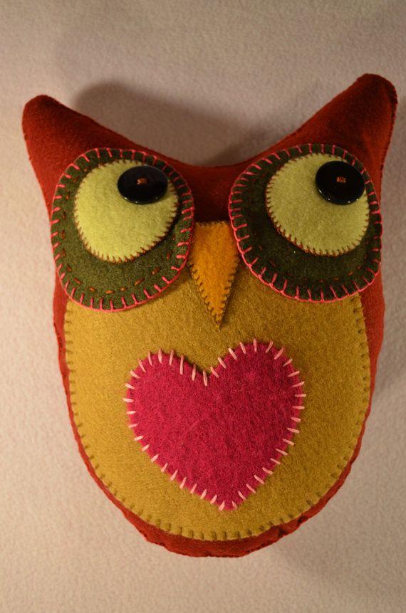 Hand sewn Felt OWL by MilbotandChooky on Etsy