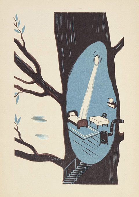 Vintage Polish children's book illustration from Flavorpill --10-z_przygod_krasnala_halabaly_2