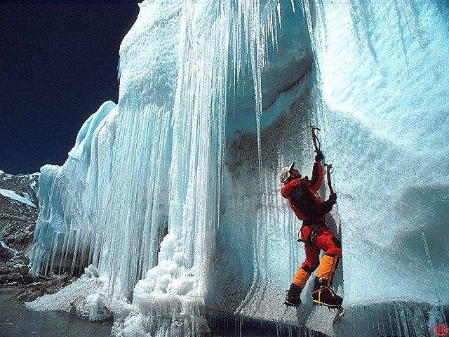 Beautiful Ice Climbing picture. www.gearcoop.com