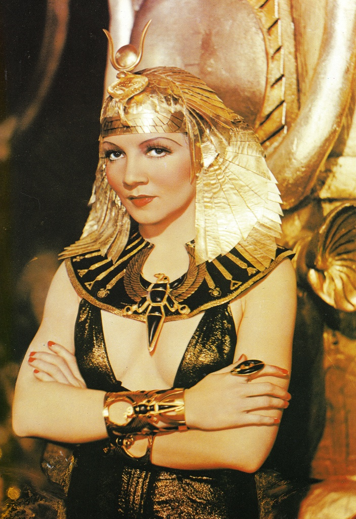 Colorized Cleopatra (Claudette Colbert)