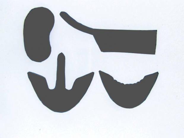 Šablona na detské topánočky 1