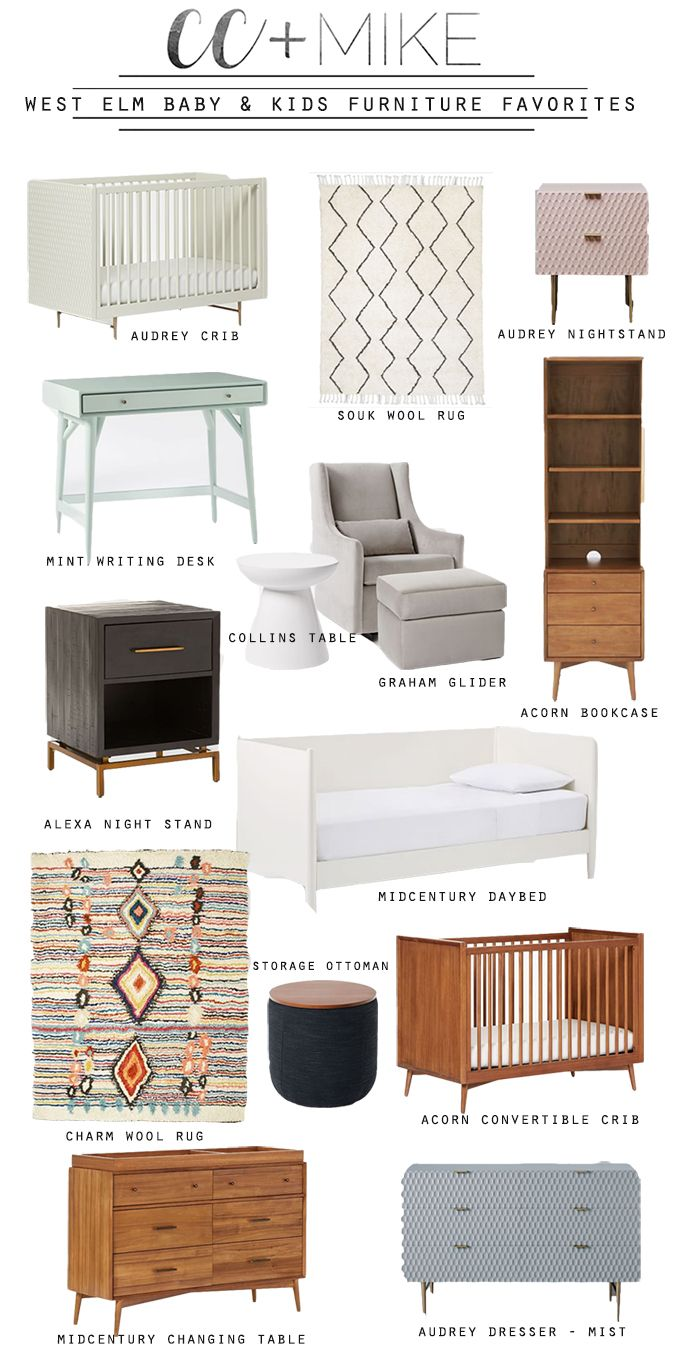 West elm pottery barn kids modern baby and kids furniture and home decor launch midcentury modern baby and kids furniture modern baby cribs