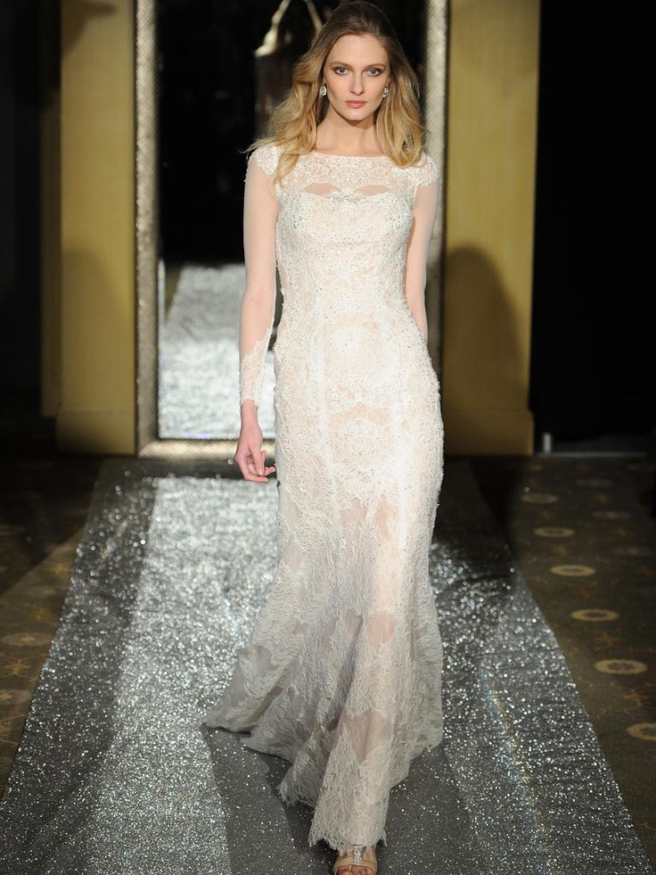 Oleg cassini 39 s spring 2016 wedding dresses are timeless for 3 4 sleeve wedding guest dress