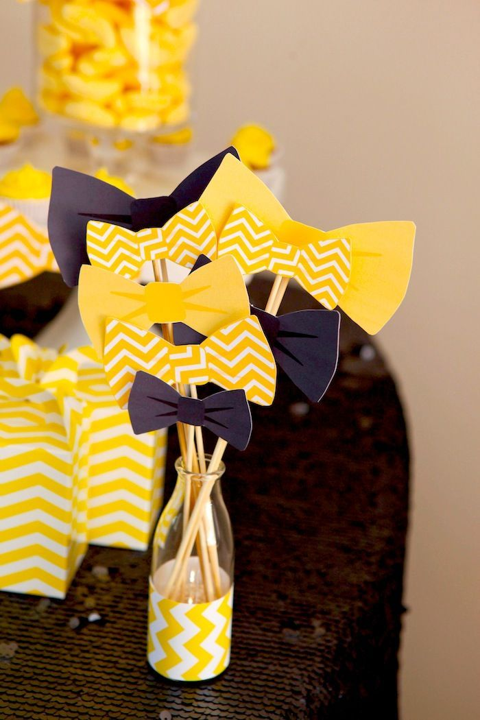 Bow Tie Themed 1st Birthday Party with tons of cute ideas! Via Kara's Party Ideas http://KarasPartyIdeas.com #babyshower #babyshowerideas #bowtieba...