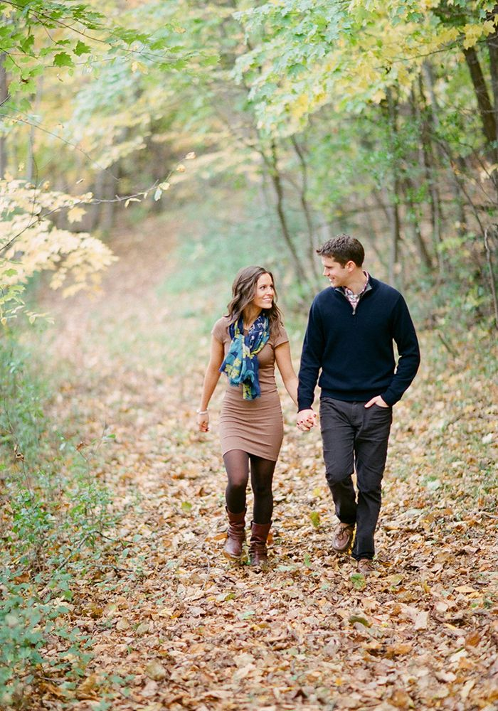 engagement session in the woods… perfect for fall