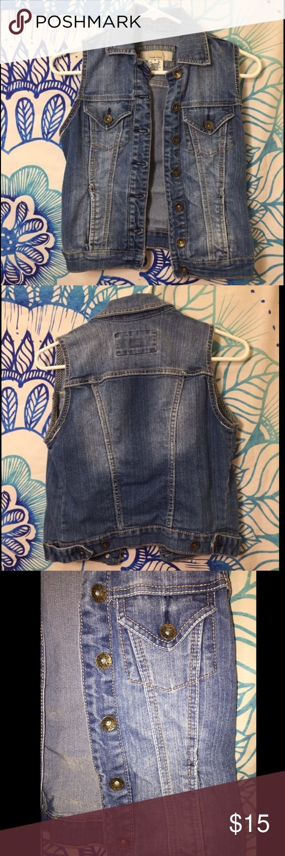 Vintage Sleeveless Jean Jacket with Pockets Posting a lot of items - Descriptions coming soon! Check back in a few days Forever 21 Jackets & Coats Jean Jackets