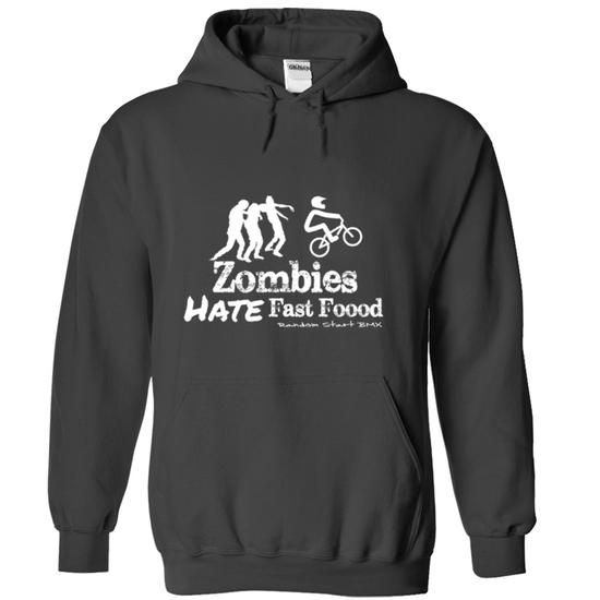 BMX Zombies Hate Fast Food #creative tshirt #sweatshirt for women. BUY TODAY AND SAVE   => https://www.sunfrog.com/Zombies/BMX-Zombies-Hate-Fast-Food-Black-Hoodie.html?id=60505