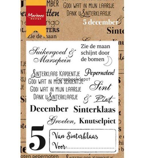 Marianne Design Clear Stamp - Vijf december