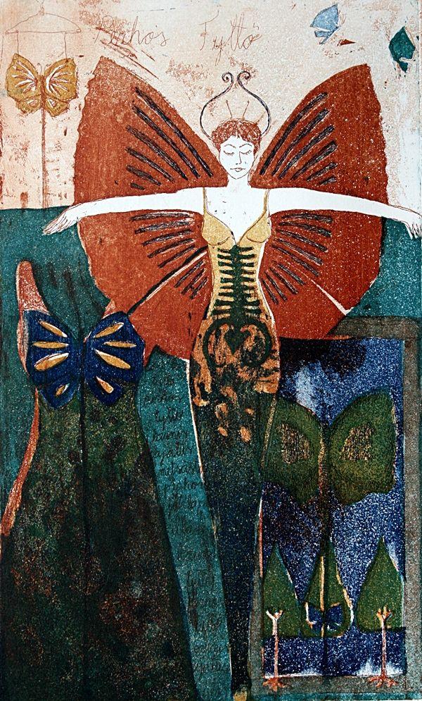 PERHOSTYTTÖ, Butterfly girl, MIRKA JOHANSSON, graphic