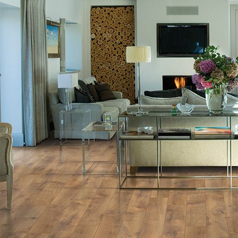 Arlington Oak Textured Laminate Floor Medium Oak Wood