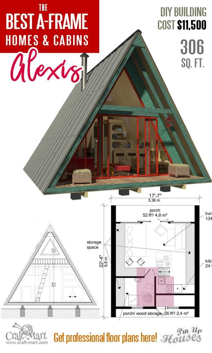 Cool A Frame Tiny House Plans Plus Tiny Cabins And Sheds Craft Mart In 2020 A Frame House A Frame Cabin Plans Building A Tiny House