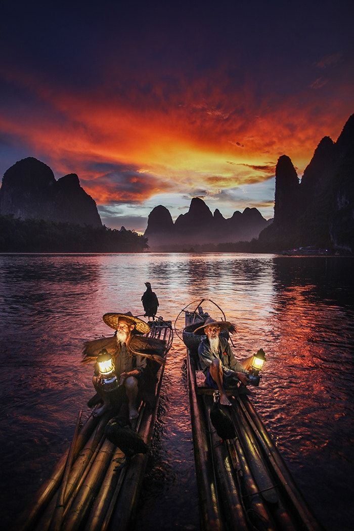 "What a wonderful world - ""At this moment, I was completely enchanted by the scenery."" -Taken in this pic Xinping Fishing Village, China. ⓒWoosra Kim"