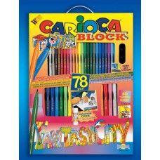 Most a szállítás ingyenes ! - 78 darabos kirakós, kifestő és színező készlet Carioca Fantasy City - 4,990Ft