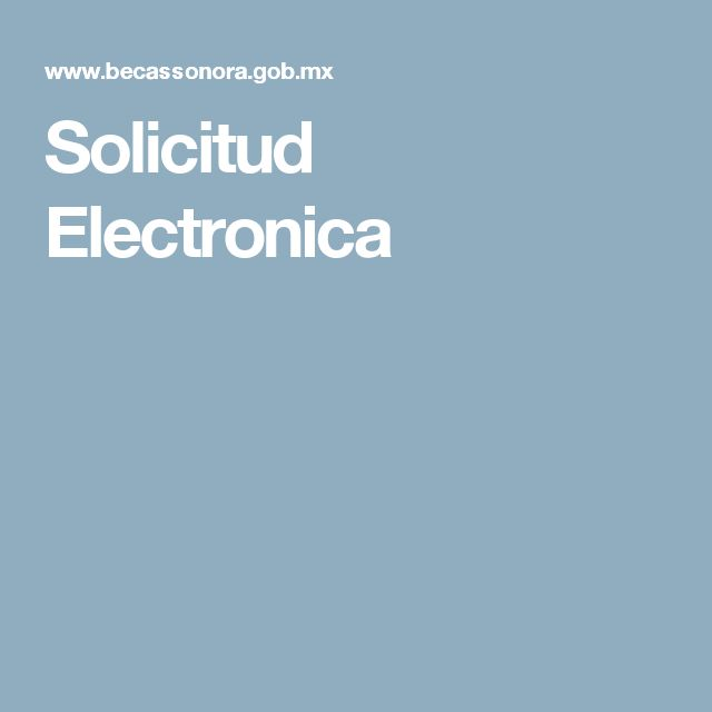 Solicitud Electronica