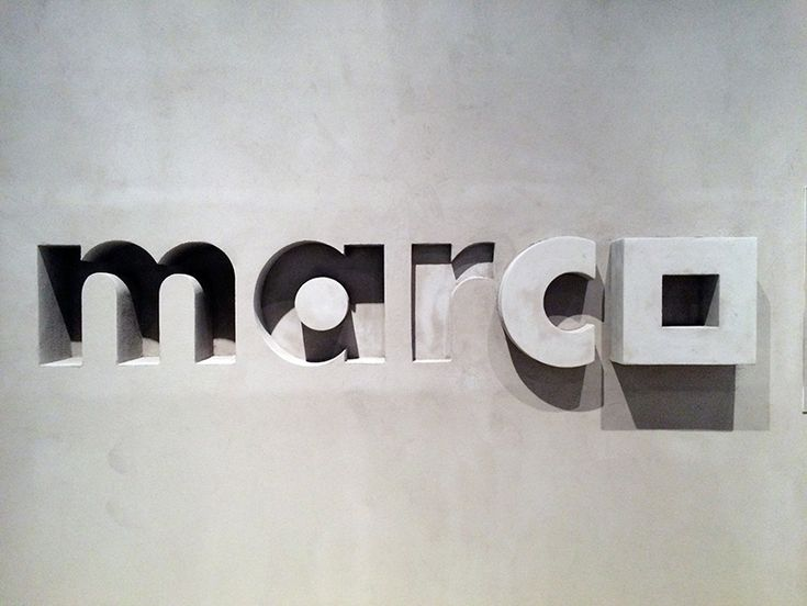 lance_wyman_exhibition_MUAC_28 - museum of contemporary art monterrey, MARCO logo, 1990 - photo © designboom