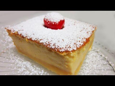 Pastel mágico o Tarta inteligente - Cocina y Thermomix [tradicional] - MundoRecetas.com