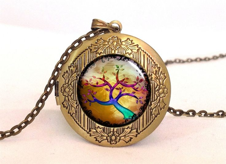 Autumn tree Locket, 0607LPB from EgginEgg by DaWanda.com