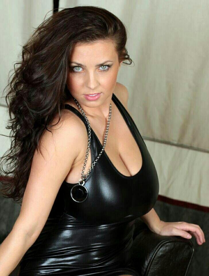 Ewa Sonnet - black pvc dress - seated pose