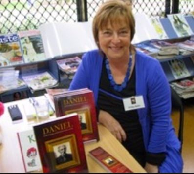 """Now titled 'The Disenchanted Soldier' this was me at my first book conference, when """"Daniel"""" was first released.  www.vickyadin.co.nz"""