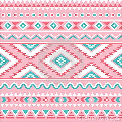 Tribal seamless pattern, Aztec pink and green background by Agnieszka Murphy, via Dreamstime