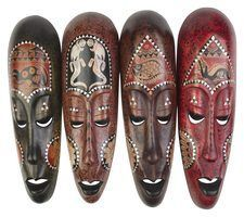 Historia de las máscaras africanas de arcilla