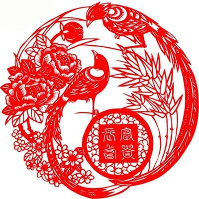 chinese celebrate birds   Chinese Paper Cuts – Folk Art for Chinese New Year and Beyond