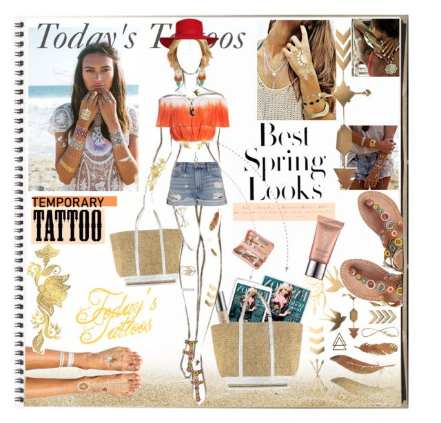 """Today's tatoosp"" by sedf2 ❤ liked on Polyvore featuring beauty, Urban Decay, Flash Tattoos, Vanessa Bruno, Laidback London, Sans Souci, Frame Denim, H&M, Royce Leather and temporarytattoo"