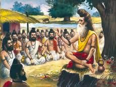 In ancient India, during the Vedic period from about 1500 BC to 600 BC, most education was based on the Veda (hymns, formulas, and incantations, recited or chanted by priests of a pre-Hindu tradition) and later Hindu texts and scriptures http://deepuscareerguide.blogspot.in/2010/11/early-education-system-in-india.html