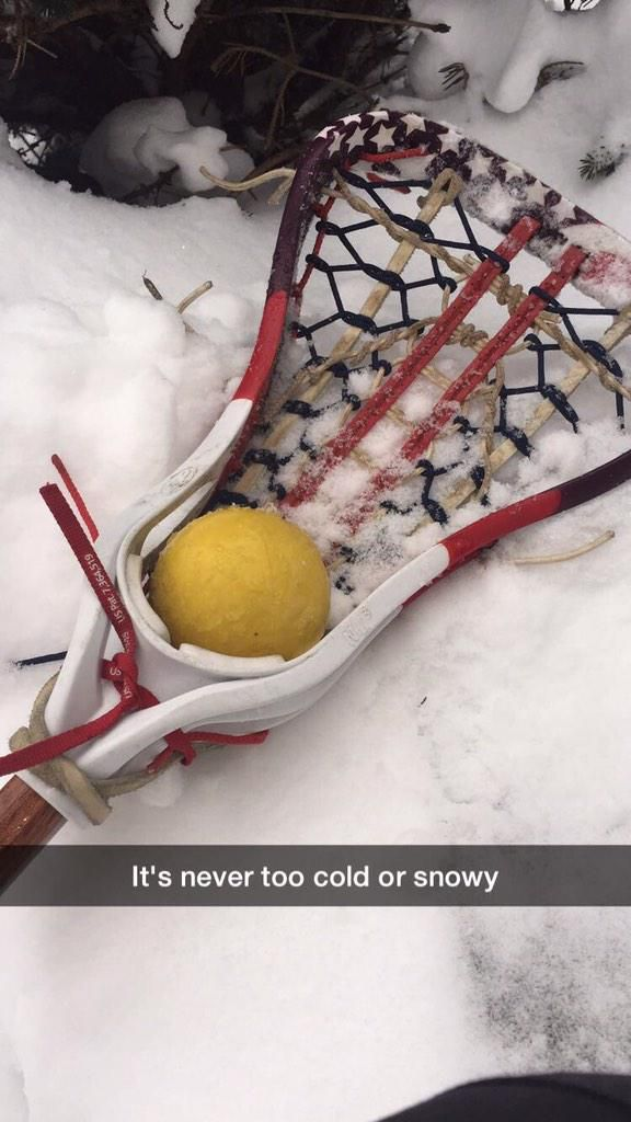 Never too cold or snowy for some lacrosse!  www.throwlikeagirl.com