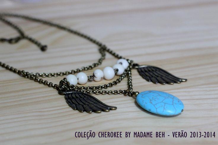 Colar Ahawi Coleção Cherokee - by Madame Beh  Verão 2013-2014 Peças étnicas feito a mão com exclusividade https://www.facebook.com/madamebeh: Verão 20132014, 20132014 Peça