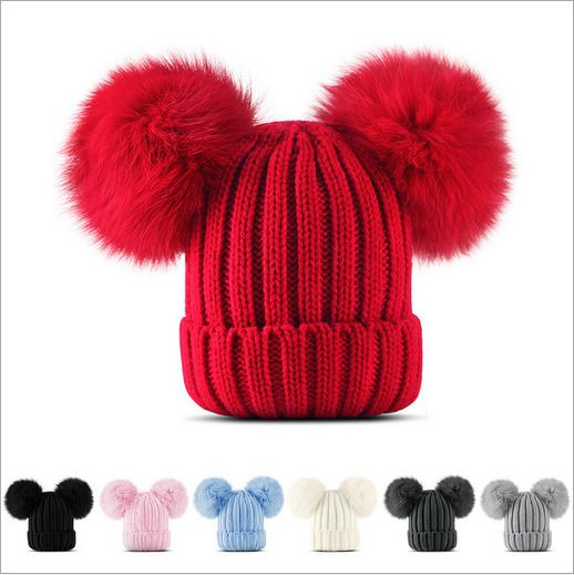 1f6078708 Winter Toddler Children Girls Infant Hat Babys Crochet Knit Hat ...