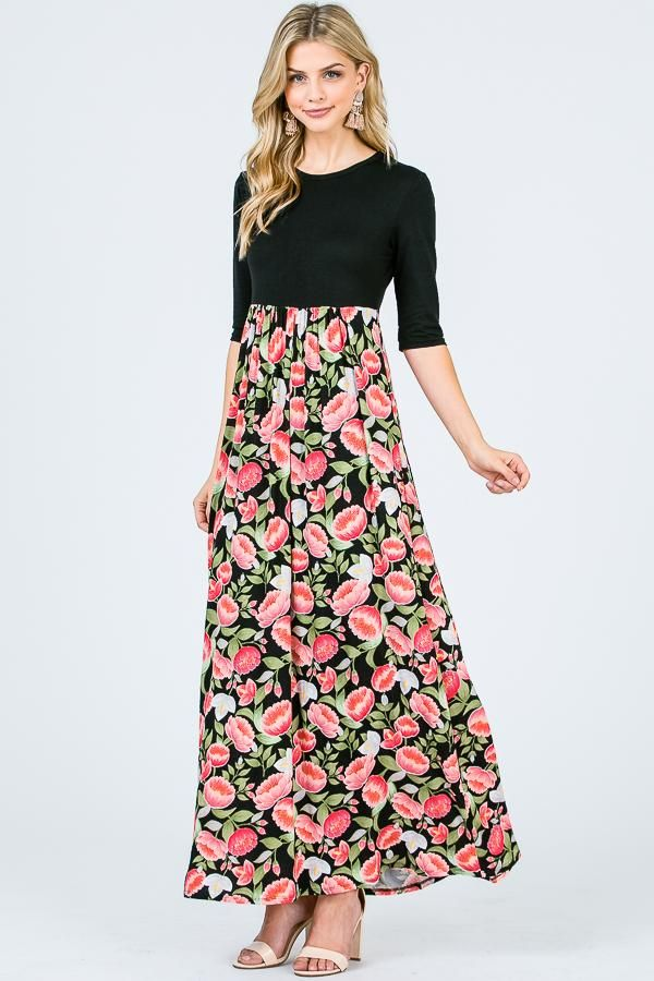1b372813e243 Aynara Fashion Floral Maxi Dress