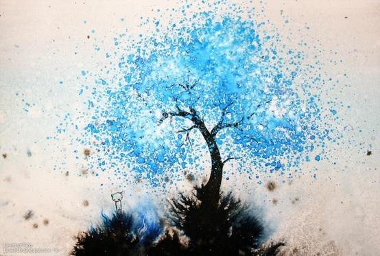 Splatter paint tree create pinterest trees love for Cool watercolour