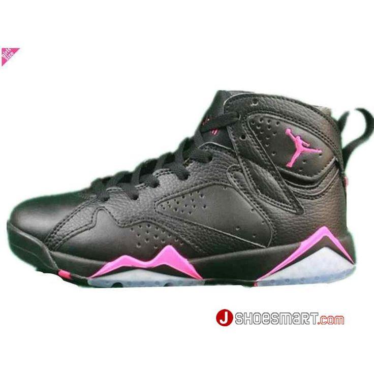 """2017新作 Air Jordan 7 GS """"Hyper Pink"""" GS 442960-018 Hyper Pink ナイキ エアジョーダン7 レトロ GG ブラック/ハイパー ピンク WMNS ウィメンズ スニーカー 靴 激安"""