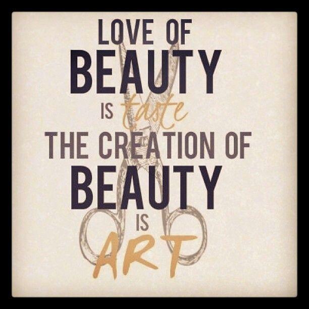 Beauty is art.